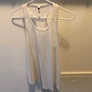 Racerback tank with braided detail